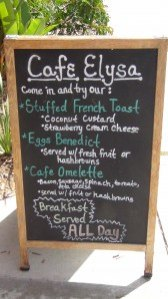 Start your day at Cafe Elysa on Coast Highway in Carlsbad, CA