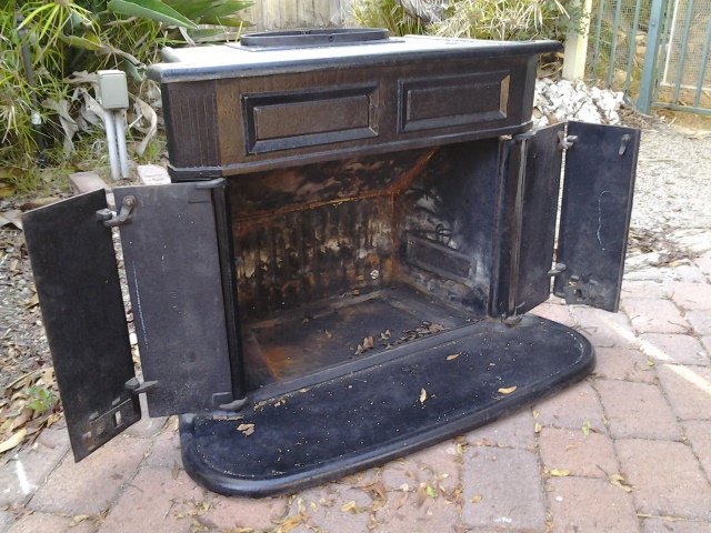 Old Wood-burning Stove from the studio.