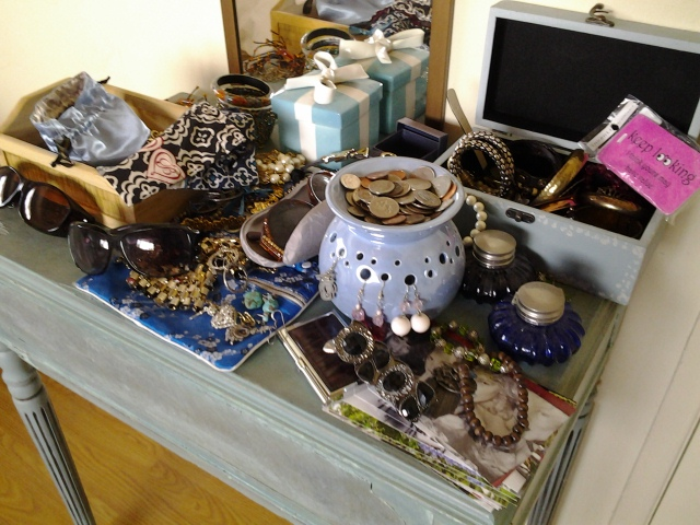 I had a small vanity table and just inherited lots of jewelry.