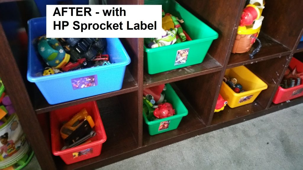HP Sprocket labels to the rescue!